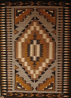 Navajo weaving production of traditional rugs and blankets of the Navajo people of the Four Corners region, United States