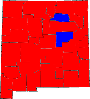 United States Senate election in New Mexico, 1996 - Image: New mexico 96