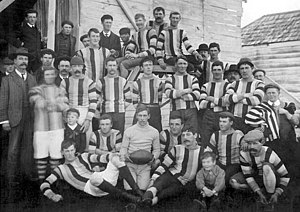 New Norfolk District Football Club - The New Norfolk F.C. in 1910.