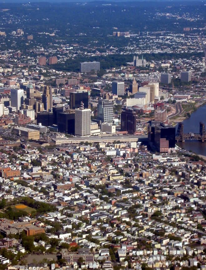 Newark aerial looking northwest