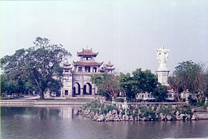 Phát Diệm Cathedral - Complete view of the Cathedral and the bell tower
