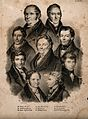 Nine famous Swedish doctors, numbered with a key from 28-36. Wellcome V0006773.jpg
