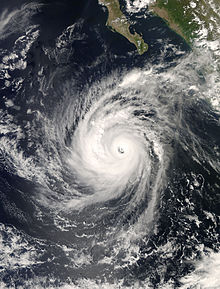 Hurricane Norbert as a Category 4 on October 8, 2008