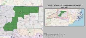 10e district du Congrès de Caroline du Nord (depuis 2021).png
