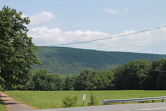 North Mountain (Pennsylvania) - North Mountain as seen from Jordan Township, Lycoming County