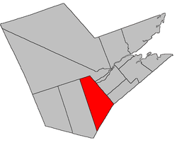 Location within Northumberland County, New Brunswick