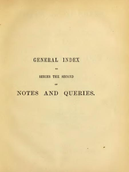 File:Notes and Queries - Series 2 - General Index.djvu