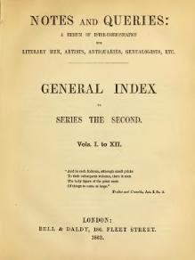 Notes and Queries - Series 2 - General Index.djvu