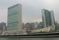 Instalações da Organização das Nações Unidas (ONU) em Nova York. A fundação da ONU foi uma das consequências da guerra.