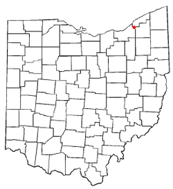 Location of Mayfield in Ohio