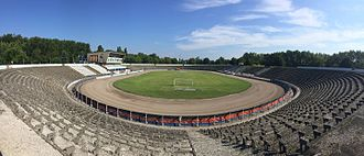 OSiR Skałka - OSiR Skałka Stadium in Świętochłowice, Poland - panoramic view