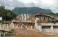 Obras en el rio y puente Guancora y al fondo el cerro Eramon, Agosto 2011 - panoramio.jpg