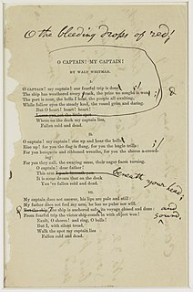 O Captain! My Captain! Poem by Walt Whitman on the death of Abraham Lincoln