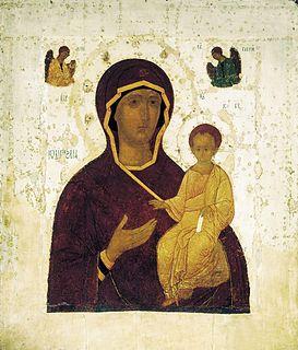 Α type of depiction of the Virgin Mary in iconography, esp. of the Eastern Church