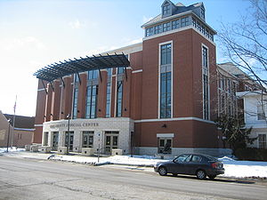 Ogle County, Illinois - The Ogle County Judicial Center, across the street from the Old Ogle County Courthouse in Oregon, Illinois.