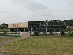 Olympic aquatics centre, Lee Valley - geograph.org.uk - 2430541.jpg
