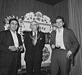 Opening IBM-schaaktoernooi in Hiltonhotel te Amsterdam, vlnr Petrosjan, Burg, Bestanddeelnr 926-5486.jpg