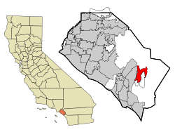 Orange County California Incorporated and Unincorporated areas Rancho Santa Margarita Highlighted.svg