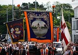 Orangemen parade in Bangor, 12 July 2010 - geograph - 1964645.jpg