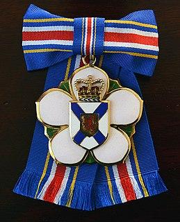 Order of Nova Scotia Civilian honor for conspicuous achievements