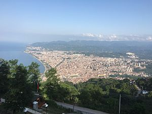 Ordu - View of Ordu from Boztepe hill