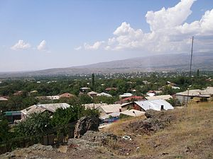Oshakan - Oshakan as seen from the western side of Didikond Hill.