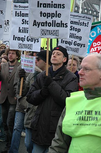 OutRage! - 2006, OutRage! protesters against killing of Iraqi gays