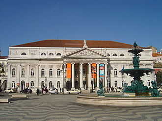 Rossio Square, with Queen Maria II National Theatre in the background Pca. do Rossio - Lisboa (Portugal).jpg