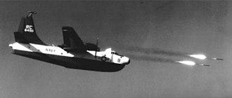 VP-46 - VP-46 P5M-1 firing HVAR rockets in the 1950s