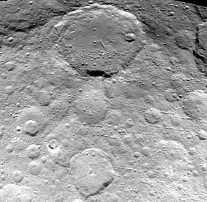 Ezinu (crater) - Ezinu (top) and Nawish (bottom)