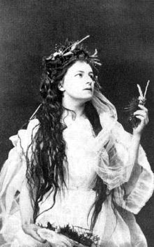 Helena Modjeska - Helena Modrzejewska as Ophelia in Shakespeare's Hamlet, 1867.