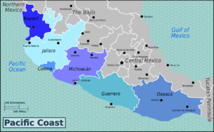 statesedit regions of mexican pacific coast