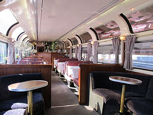 Coast Starlight - The interior of a Pacific Parlour car.