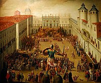 Painting depicting the arrival of Christine of France to Turin in 1619 by Antonio Tempesta (1555-1630).jpg