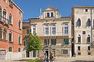 Bandiera brothers - Palace Soderini, home of Attilio and Emilio Bandiera, facade in Campo Bandiera e Moro, Venice