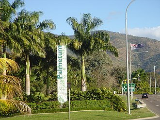 The Palmetum, Townsville - Image: Palmetum entrance from Nathan Road