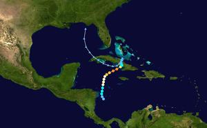 Hurricane Paloma - Image: Paloma 2008 track
