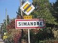 Panneau entrée Simandre Saône Loire oct 2018 1.jpg