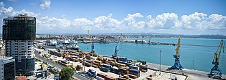 The highly advantageous location of Durres makes its port the busiest in Albania and among the largest in the Adriatic Sea. Panorama of Durres Port.jpg