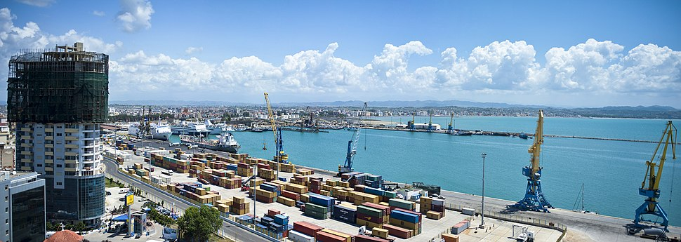 Panorama of Durres Port