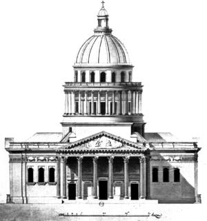 Multiview projection - Principal façade of the Panthéon, Paris, by Jacques-Germain Soufflot.