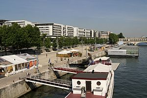 Paris au bord de la seine. Au fond la piscine flottante.jpg