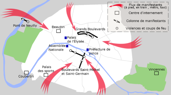 carte des manifestations