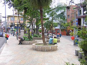 Villatina massacre - The Park of the Journalist in downtown Medellín has a monument to the victims of the Villatina massacre.