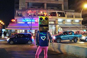 "LMFAO - A ""Shuffle Bot"" cosplayer in Nicosia, Cyprus"