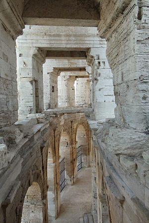 Arles - Passageway in Roman arena