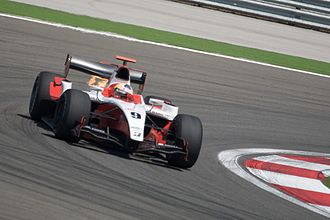 ART Grand Prix - Pastor Maldonado driving for ART at the Turkish round of the 2009 GP2 Series season.