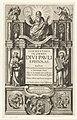 Paulus en personificaties Oude en Nieuwe Testament Titelpagina voor Cornelius a Lapide, Commentaria in omnes divi Pauli epistolas, 1627, RP-P-2016-728.jpg
