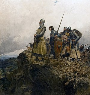 Peter III of Aragon - Peter III at Col de Panissars by Mariano Barbasán (1889)
