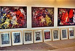 Pedro Meier – Kunsthaus Grenchen Solo-Ausstellung – »Flugbilder Atlantikflug Charles Lindbergh«– »Bilder der letzten 15 Jahre«, 1995. Auswahl der Bilder im Atelier. Foto © Pedro Meier Multimedia Artist.jpg